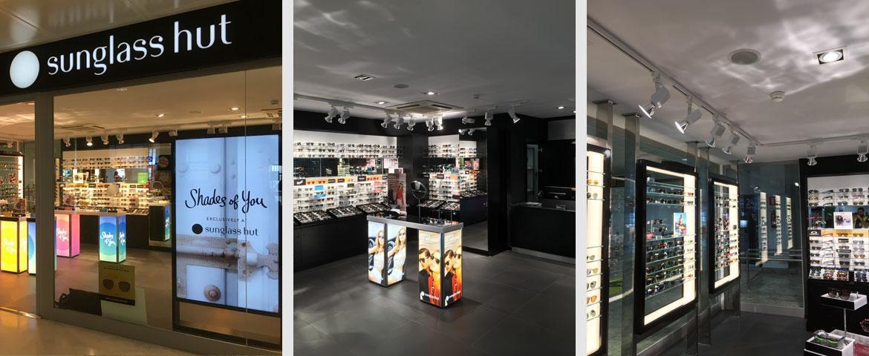 Tienda Sunglass en el Aeropuerto de Palma de Mallorca
