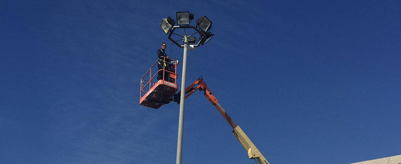 Renovación iluminación urbanización en el Aeropuerto de Palma de Mallorca