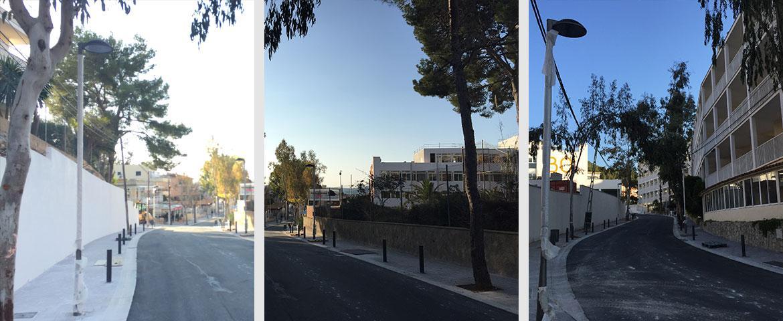 Remodelación alumbrado en Calle Eucaliptus (Paguera) para Matias Arrom Bibiloni S.L.